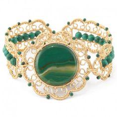 Bratara malahit Wire Wrapped Jewelry, Wire Wrapping, Flamingo, Gemstone Rings, Handmade Jewelry, Gemstones, Bracelets, Wire, Jewels
