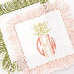 Whew! It's hot here in Dallas! How about a  monogram in  colors? #theloveliest #halohomebyksw