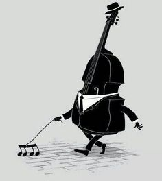 Walking bass is designed by triagus and a nice music shirt design. Sound Of Music, Music Is Life, Good Music, Humor Musical, Music Jokes, Images Disney, Music Pictures, Cute Illustration, Classical Music