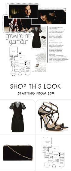 """Fifty Shades Darker // Anastasia Steele"" by clo-egral on Polyvore featuring mode, Diane Von Furstenberg, Jimmy Choo et Dorothy Perkins"