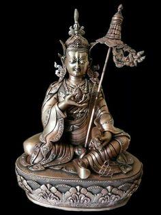 Padmasambava Buddhist Art, Gods And Goddesses, Indian Art, Deities, Deco, Sculptures, Bronze, Marvel, Buddha Statues