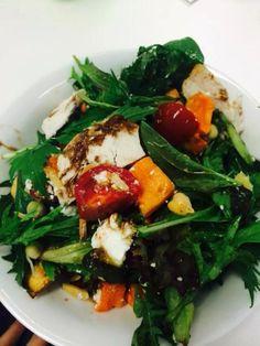 Roast pumpkin & Chicken Salad