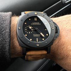 Panerai matte ceramic case http://www.thesterlingsilver.com/product/tag-heuer-formula-1-cau1114-ft6024-42mm-stainless-steel-case-black-rubber-mens-watch/