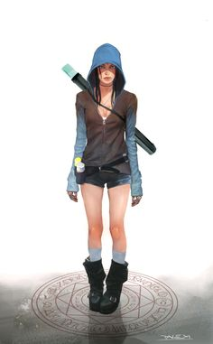 View an image titled 'Kat Art' in our DMC: Devil May Cry art gallery featuring official character designs, concept art, and promo pictures. Female Character Design, Character Design Inspiration, Character Concept, Character Art, Character Ideas, Concept Art World, Game Concept Art, Devil May Cry, Viewtiful Joe