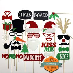 Christmas Photo Booth Props Holiday Photo Booth by stickprops fun for christmas eve