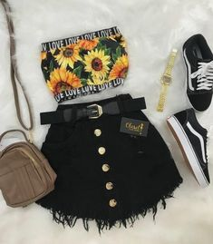 casual outfits with vans Girls Fashion Clothes, Teen Fashion Outfits, Swag Outfits, Mode Outfits, Cute Fashion, Girl Fashion, Girl Outfits, Sport Fashion, Fashion Black