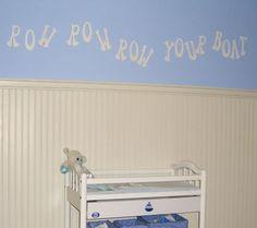 Sign for nursery