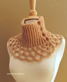 Wool Scarflette-Sesame      ♪ ♪ ... #inspiration #crochet  #knit #diy GB  http://www.pinterest.com/gigibrazil/boards/