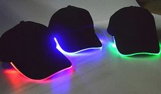 The Baseball Hats Are Made Of 100% Cotton, There Is A Battery Located Inside The Cap Under The Fold. The Brim Of The Cap Is Lighted With 2 Leds And Has 3 Operating Modes Which Are Slow Blink, Fast Blink Or Solid On. The Caps Uses Two CR2032 Batteries (Which Are Included) And They Are Replaceable. They Are Made To Order !Allow 1 - 2 Weeks For ShippingLimited Quantity! Light Up Hats, Hat Display, Diy Cans, Caps Hats, Baseball Hats, Led, Unique Products, Mobile App, Cotton