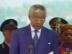 [Video] Nelson Mandela inauguration speech as President of South Africa. May 1994 Nelson Mandela President, University Of The Witwatersrand, African National Congress, Classroom Images, Revolution, First Black President, Black Presidents, Nobel Peace Prize, Clint Eastwood