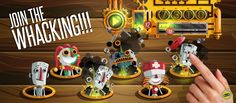 """Videojuego mobile: Whack a Robot: Smash it -  """"Join the whacking!!!"""" - Plataforma: Android"""
