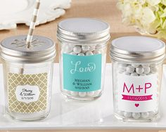 Mason Jar with Your Choice of Lid (Set of 12) (Personalization Available)