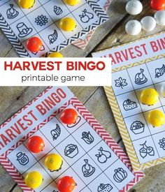 Harvest Bingo is a perfect Fall Printable Game that can be used all throughout Fall and the kids will love playing it over and over! Harvest Party Games, Harvest Festival Games, Fall Festival Activities, Fall Festival Party, Harvest Activities, Fall Harvest Party, Family Activities, Scarecrow Festival, Harvest Crafts