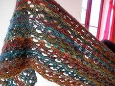 mooie sjaal haken: losse,vaste, stokjes