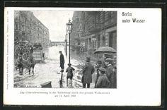 AK Berlin-Kreuzberg, Hochwasser in der Yorckstrasse am 14. April 1902