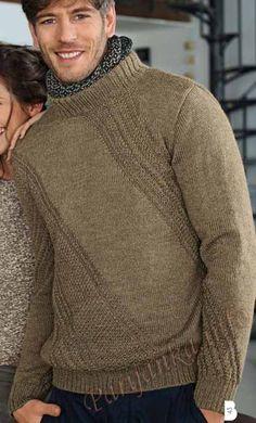 Пуловер с воротником-стойка (м) 593 Creations 12/13 Bergere de France № 3006