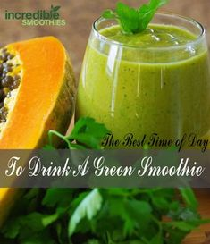 """When is the best time of day to drink a green smoothie? That's a question I get a lot. The simple answer is """"anytime"""", but there are some distinct advantages to having your green smoothie earlier in the day. I drink two 32-ounce green smoothies a day. I drink one for breakfast and another one …"""