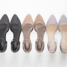 Find the perfect pair of shoes and get ready to step out in style. Shop women's shoes for every occasion & choose from flats, heels & wedges, sandals & more. Ankle Strap Heels, Ankle Straps, T Strap Flats, Cute Shoes, Me Too Shoes, Pointy Flats, Gray Flats, Suede Flats, Crazy Shoes