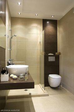 Mała łazienka ze szkłem
