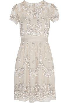 embellished tulle mini dress / needle & thread