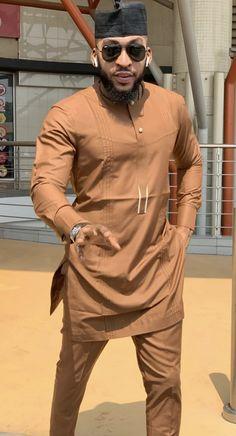 Mens Style Discover Brown African men clothing Brown Dashiki Brown suit Brown senator suit African clothing for men Brown grooms men suite African Shirts For Men, African Dresses Men, African Attire For Men, African Clothing For Men, African Wear, African Outfits, African Masks, African Style, African Women