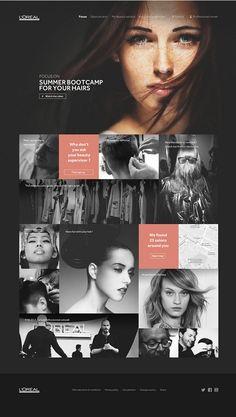 L'Oréal professionnel by Creaktif -, via Behance http://www.creaktif.com/