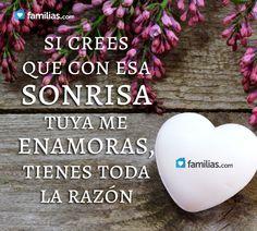 Me encanta tu sonrisa #frase #amor