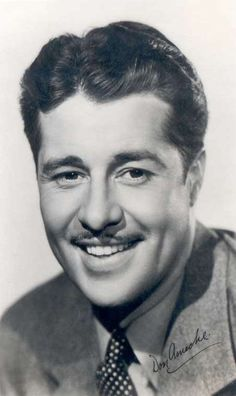 """DON AMECHE - Character Actor of and the next 60 years. Remember him in """"Trading Places"""" with Eddie Murphy. Best known for the movie """"Cocoon"""". Old Hollywood Movies, Hollywood Men, Old Hollywood Stars, Classic Hollywood, Vintage Hollywood, Hollywood Glamour, Famous Men, Famous People, Famous Faces"""