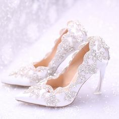 c5db8e9a3961 2015 New Luxury Palace Wedding Shoes Pointed Toe White Color Satin Crystal  Chain Dresses Shoes For Bridal Fashion Women Pumps Buy Bridal Shoes Online  Cheap ...