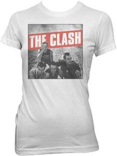 The Clash Photo Fitted Shirt Girls White Shirt, White Girls, Shirts For Girls, Rock T Shirts, Band Shirts, Tee Shirts, The Clash Band, Combat Rock, Shirt Sale