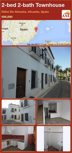 2-bed 2-bath Townhouse in Ráfol De Almunia, Alicante, Spain ►€95,000 #PropertyForSaleInSpain