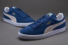 Mens Shoes - Puma Suede Classic Eco - Ensign Blue White - 352634-01 e1ff69d9f