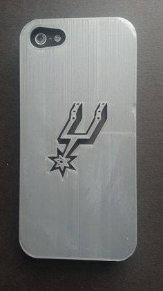 59e9919ce8c34 Items similar to Silver San Antonio Spurs iphone 4S and iPhone 5 case on  Etsy