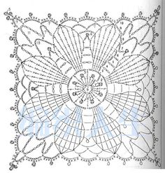 Resultado de imagen para flower of life crochet doily patterns Filet Crochet, Art Au Crochet, Grannies Crochet, Crochet Diagram, Thread Crochet, Crochet Stitches, Crochet Motif Patterns, Crochet Blocks, Crochet Squares