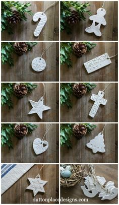 Ways To Use That Room Below Your Stairs Christmas Clay Tags 2015 Collection Of Handmade Clay Tags For Your Holiday Decorating. Use For Christmas Tree Ornaments, Gift Tie-Ons, Garlands, Napkin Holders And More. Clay Christmas Decorations, Polymer Clay Christmas, Diy Christmas Ornaments, Christmas Projects, Holiday Crafts, Ornaments Ideas, Handmade Ornaments, Polymer Clay Ornaments, Christmas Ideas