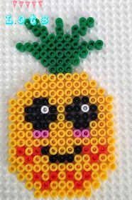 Kawaii pineapple hama beads by LiLi On The Blog
