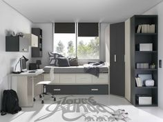 chambre ado garçon 10 ans en blanc et gris Interior Architecture, Interior Design, Dreams Beds, Kids Room Design, Small Rooms, New Room, House Rooms, Room Set, Room Inspiration
