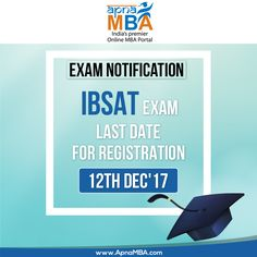 Get registered for #IBSAT 2017 exam. Click on the link below to send your online application   http://qoo.ly/ird9i  For test preparation. Click here: http://www.apnamba.com/info/84  #ExamAlert #2017 #MBA