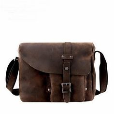 Retro distressed leather cross body bags for men from Vintage rugged canvas bags