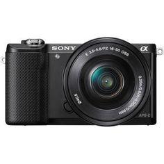 Sony Alpha a5000 Mirrorless Digital Camera with 16-50mm Lens (Black)