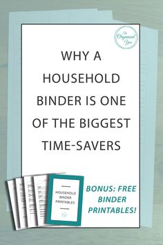 Imagine if you had all your important household information all in the one easy-to-access spot, so you didn't have to go searching through piles of paperwork around the house to find what you needed. A household [or family] binder will help relieve you of this stress, and is one of the greates