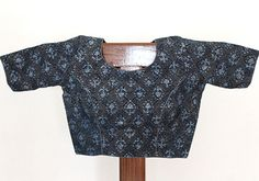 Grey and Blue Blockprinted Blouse – Desically Ethnic