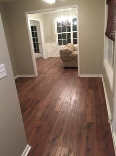 Give your home an inviting appeal by installing this authentically handcrafted Home Decorators Collection Distressed Brown Hickory Laminate Flooring. Home Renovation, Home Remodeling, Wood Floor Colors, Mobile Home Decorating, Decorating Ideas, Decor Ideas, Paint Colors For Living Room, Wide Plank, House Painting