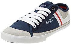 Pepe Jeans London TENIS PUNCHING, Herren Sneakers, Blau (585MARINE), 46 EU - http://on-line-kaufen.de/pepe-jeans/46-eu-pepe-jeans-london-tenis-punching-herren