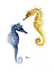 seahorse-wall-decor-art-print-watercolor-painting-joanna-szmerdt.jpg (182×240)