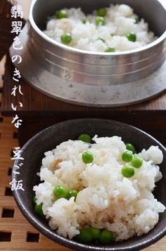 翡翠色のきれいな豆ご飯 by 調理師/料理家 槙 かおる | レシピサイト ...