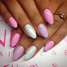 by Natalia Kondraciuk Indigo Young Team :) Follow us on Pinterest. Find more inspiration at www.indigo-nails.com #nailart #nails #indigo #pink #mint #pastel