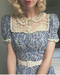 Vintage Dresses fairy medallion brooch in action ✨On lace and rayon dress ☁️ Vintage Outfits, Vintage Dresses, 1940s Dresses, Vintage Clothing Styles, Tea Dresses, Flapper Dresses, Prom Gowns, Cocktail Dresses, Homecoming Dresses