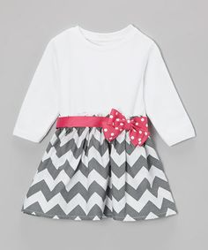 Take a look at this Pink Polka Dot Zigzag Dress - Infant & Toddler by Caught Ya Lookin' on #zulily today!