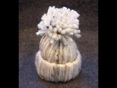 Yarn hat ornament Craft: Easy kids Christmas craft